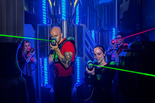 Challenge your friends to a fast-paced game of laser tag at  XtremeCraze Westborough Massachusetts