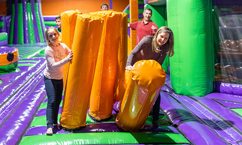 Biff baff your way through the obstacle course in Westboro Massachusetts