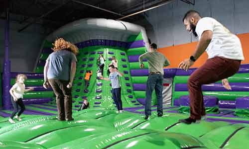 jumping, sliding family fun and airpark enjoyment