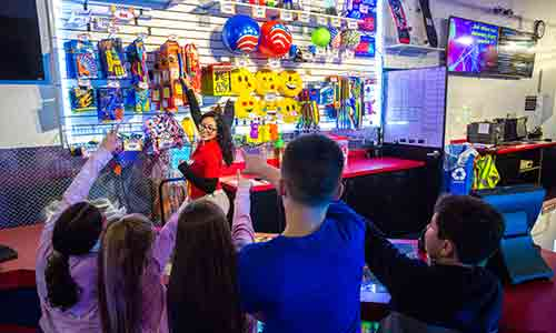 check out the prizes at XtremeCraze's arcade center