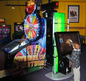 Wheel of Fortune arcade games in the GameZone too!