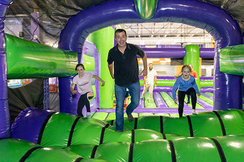 Have great fun at group events jumping in the airpark at XtremeCraze in Londonderry NH
