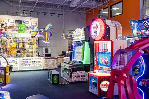 Test your skills in the arcade at XtremeCraze in Londonderry NH