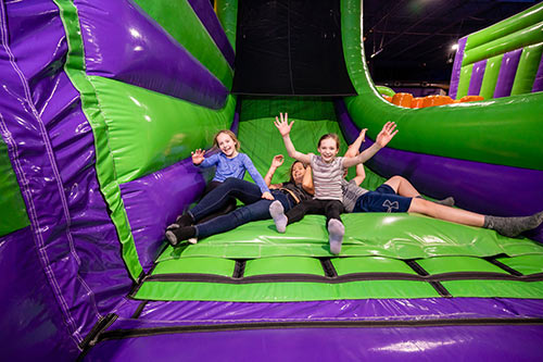 Have great fun at group events jumping in the airpark at XtremeCraze Westborough Massachusetts