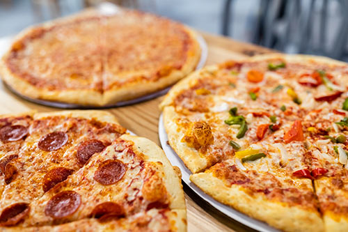 Have delicious made-to-order pizza and soft drinks at group events at XtremeCraze Westboro