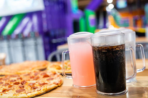 Visit the Craze Cafe for fresh-baked pizza and cool beverages