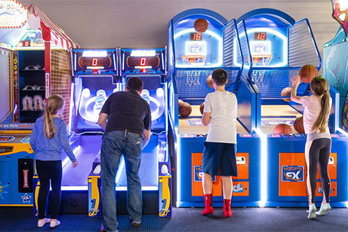 Test your gaming skills in the arcade at XtremeCraze Woburn