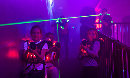 Laser tag is fun for kids