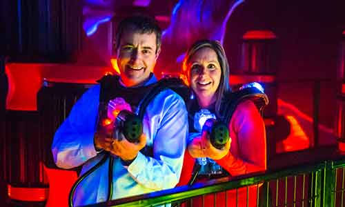 Laser tag is fun for parents to play too