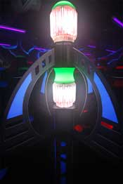 Laser tag light in the arena.