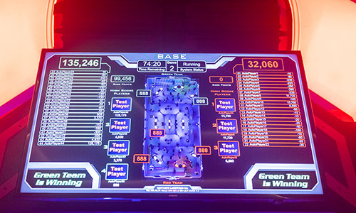 Get real time scoring on your laser tag results.