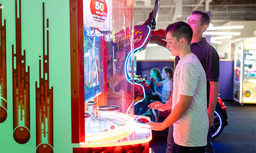 Challenge your teenager to a game of skill.