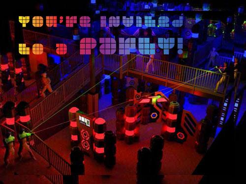 LaserTag Birthday Party Invitation
