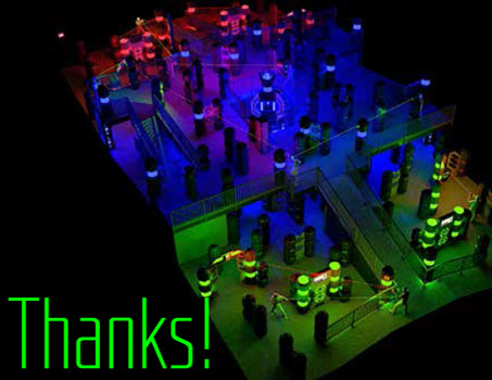 LaserTag Thank You Note