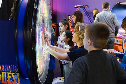 Arcade games in the GameZone!