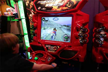 Arcade games in the GameZone!