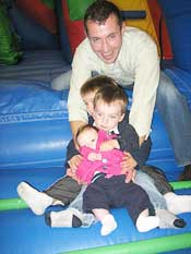 Dad & children in the Adrenaline Zone playground
