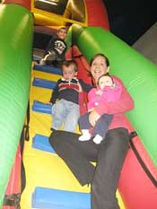 Mom & children in the Adrenaline Zone playground